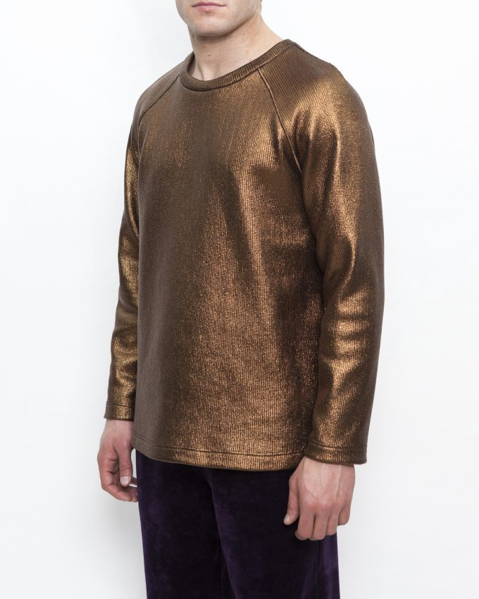 Foiled/Knit Top - 001741544235 - image 3