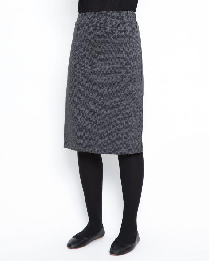 Herringbone skirt - 006474145305 - image 3
